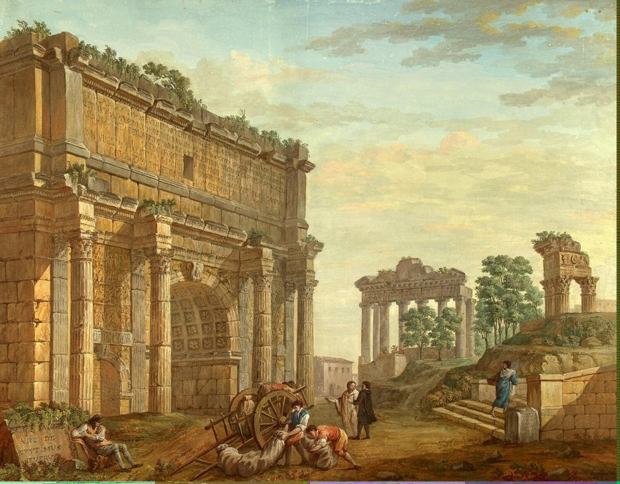Clerisseau Charles-Louis - Triumphal Arch of Septimus Severus at Rome - OR-11485