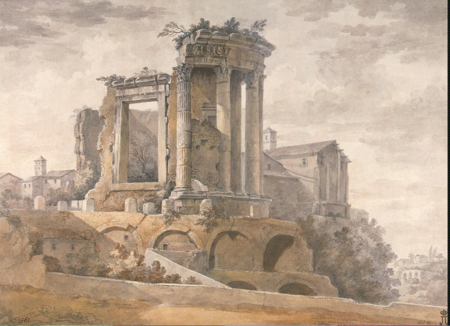 Clerisseau Charles-Louis - Temple of the Sibyl in Tivoli - OR-2567