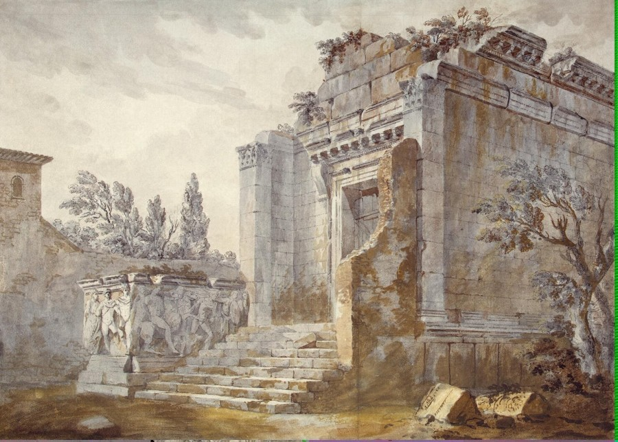 Clerisseau Charles-Louis - Temple of Bacchus in the Diocletian Palace in Split - OR-16920