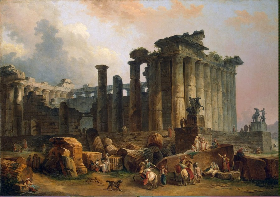 Robert Hubert - Ruins of a Doric Temple - GJ-1293