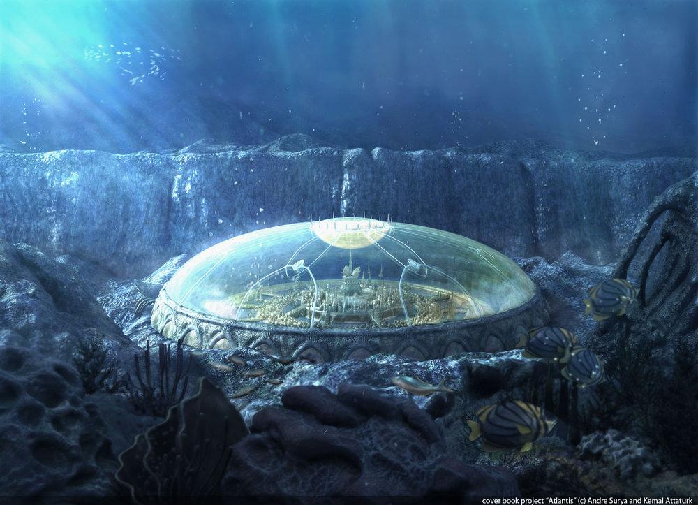 подводные купола Атлантиды и переход