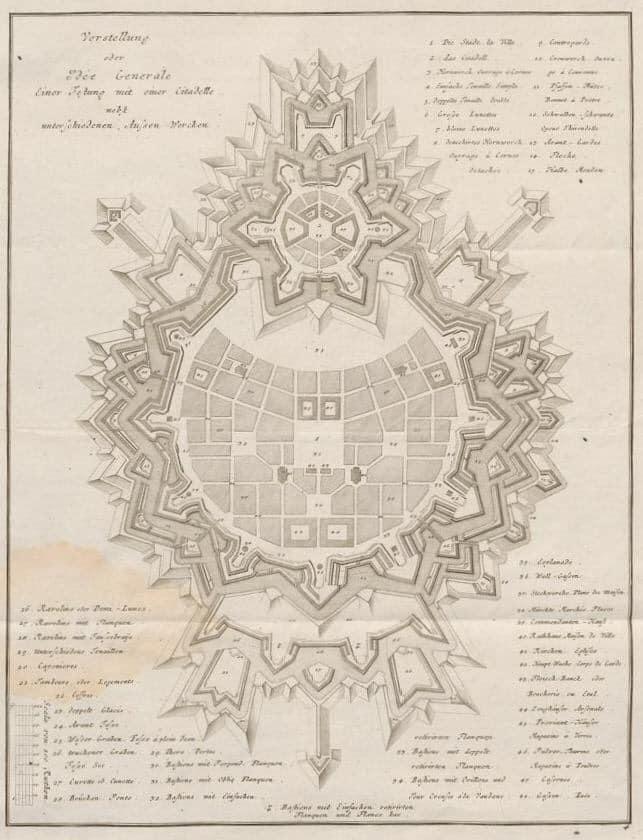 Крепости звезды. 600 крепостей-звёзд на одной карте