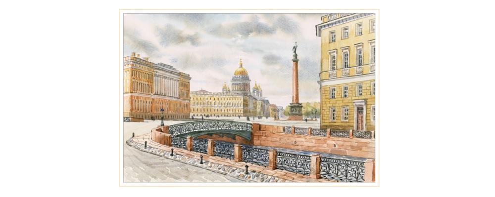 Порталы Исаакия и Александровская колонна