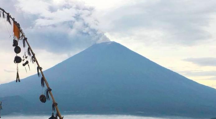 Вулкан Агунг на Бали и его влияние на людей и тонкий план