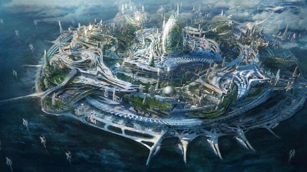 Затерянная Атлантида, работа с водой и архитектура атлантов